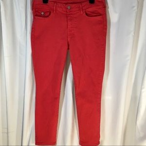 True Religion Sz 32 Red Skinny Fit Jeans